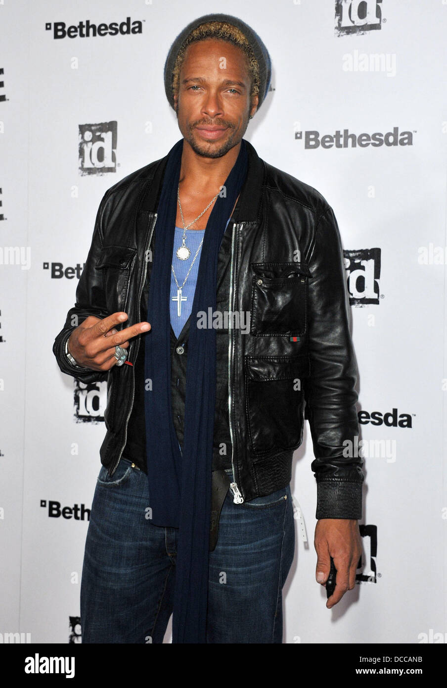 """Gary Dourdan Official Launch Party for the most anticipated video game of the year """"Rage"""" held at Chinatown's Historical Stock Photo"""