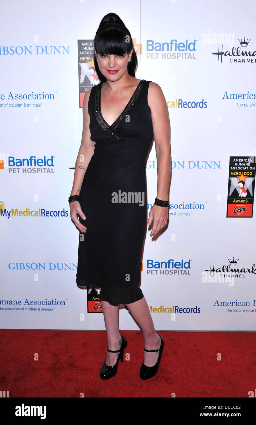 Pauley Perrette The American Humane Association's first annual Hero Dog Awards at The Beverly Hilton hotel Beverly - Stock Image