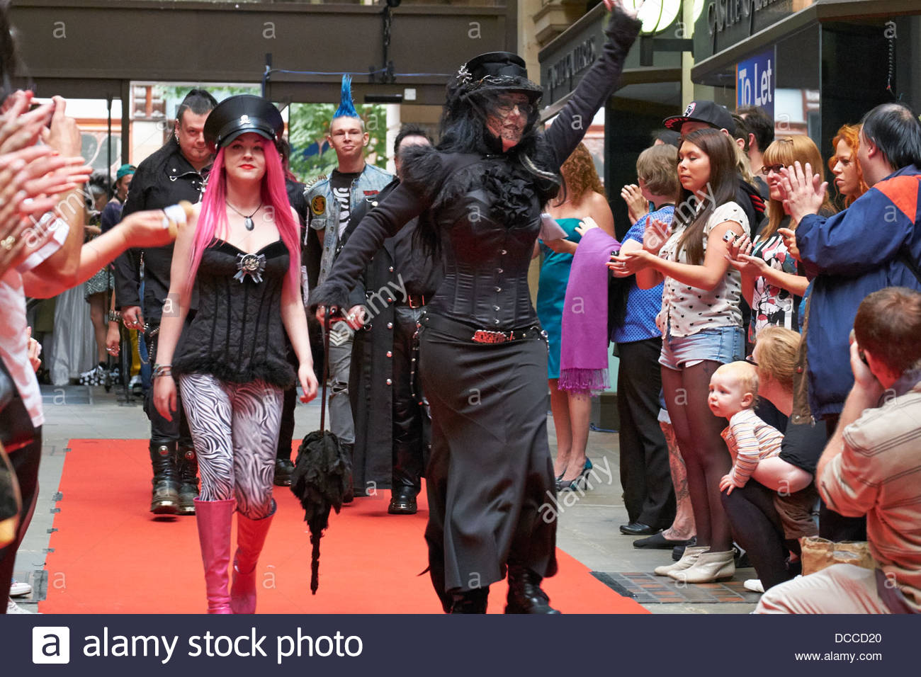 Staff of Deviant Angel Not a Fashion Show in aid of NYAS - Stock Image