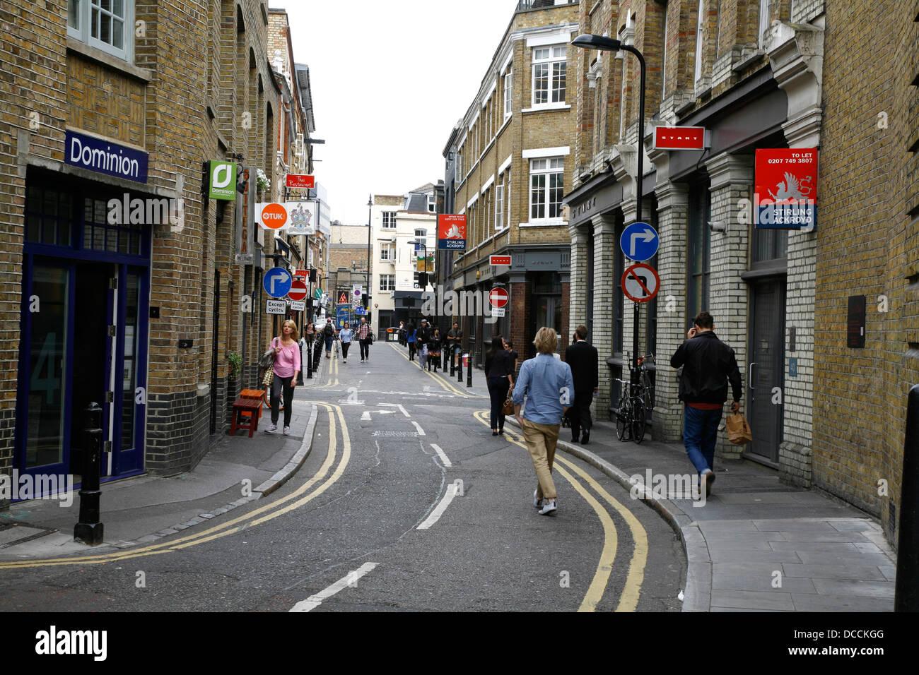 Rivington Street Shoreditch London Uk Stock Photo