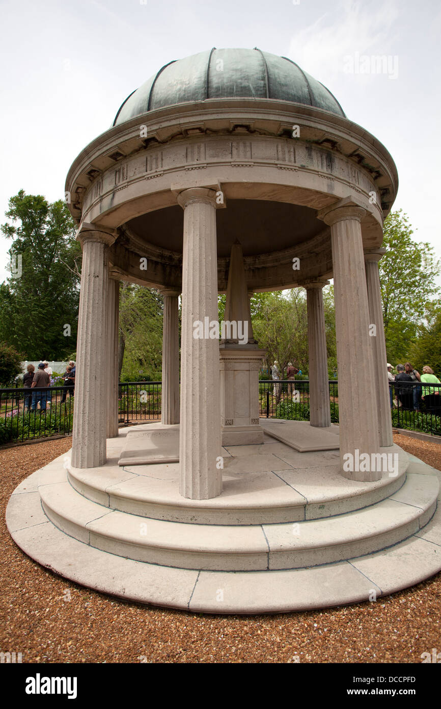 Tomb of President Andrew Jackson at the Hermitage in Nashville Stock ...