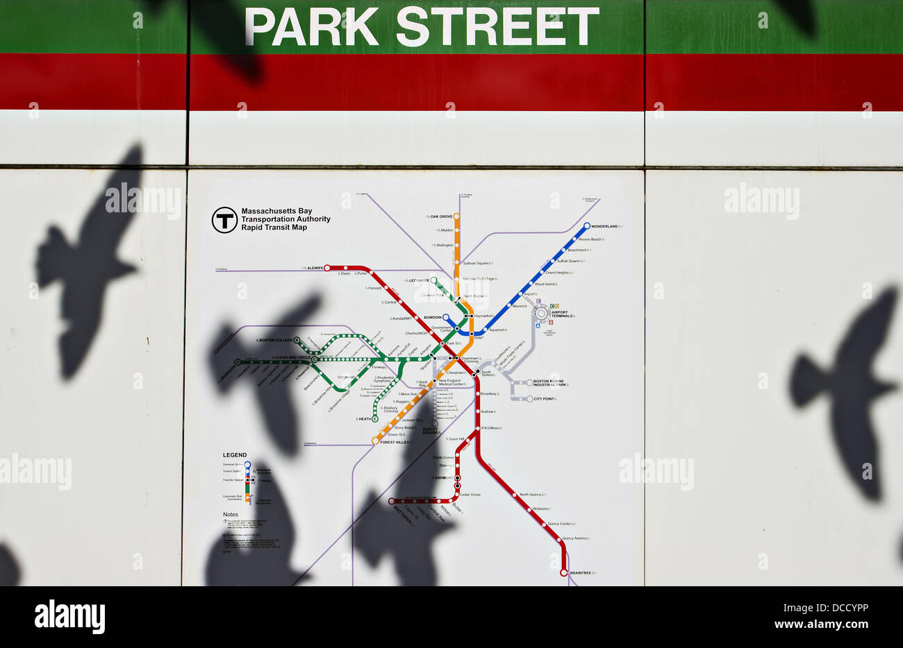 Boston Subway Map With Hotels.Massachusetts Boston Park Street Subway Map Shadow Of Pigeons
