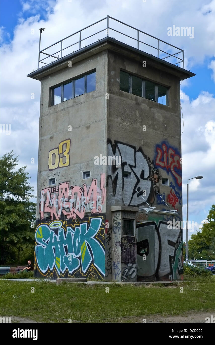 The remainings of a watchtower at the former inner-german border - Stock Image