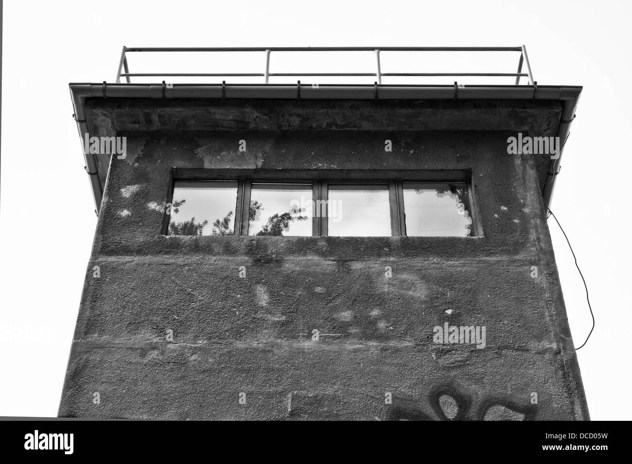 Watchtower in the former German Democratic Republic, GDR - Stock Image