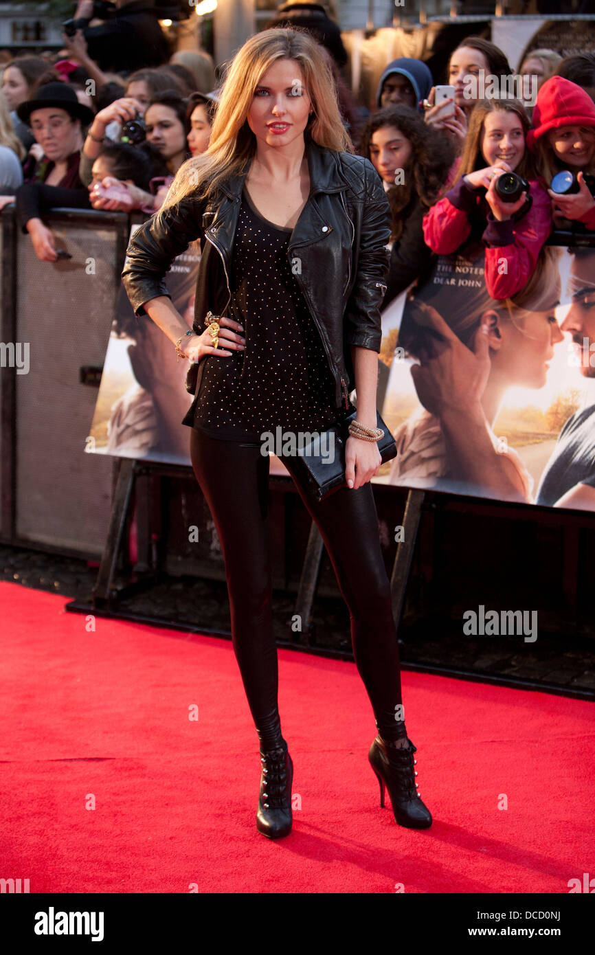 Kimberley Garner attends 'The Lucky One' European premiere at the Chelsea Cinema on April 23, 2012 in London, - Stock Image