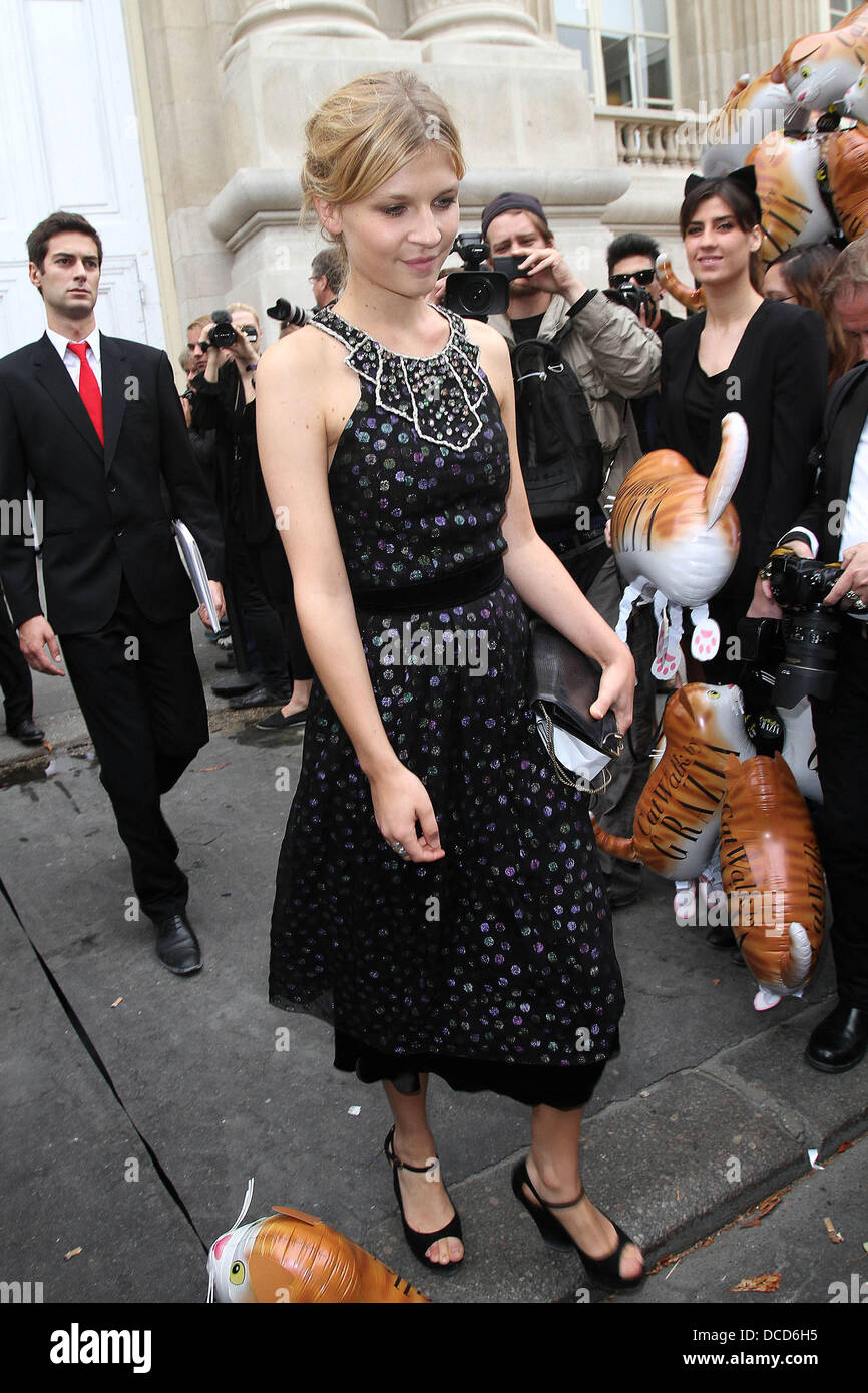 Clemence Posey,  Fashion Week Spring/Summer 2012 Ready To Wear - Chanel - Outside Arrivals Paris, France - 04.10.11 - Stock Image