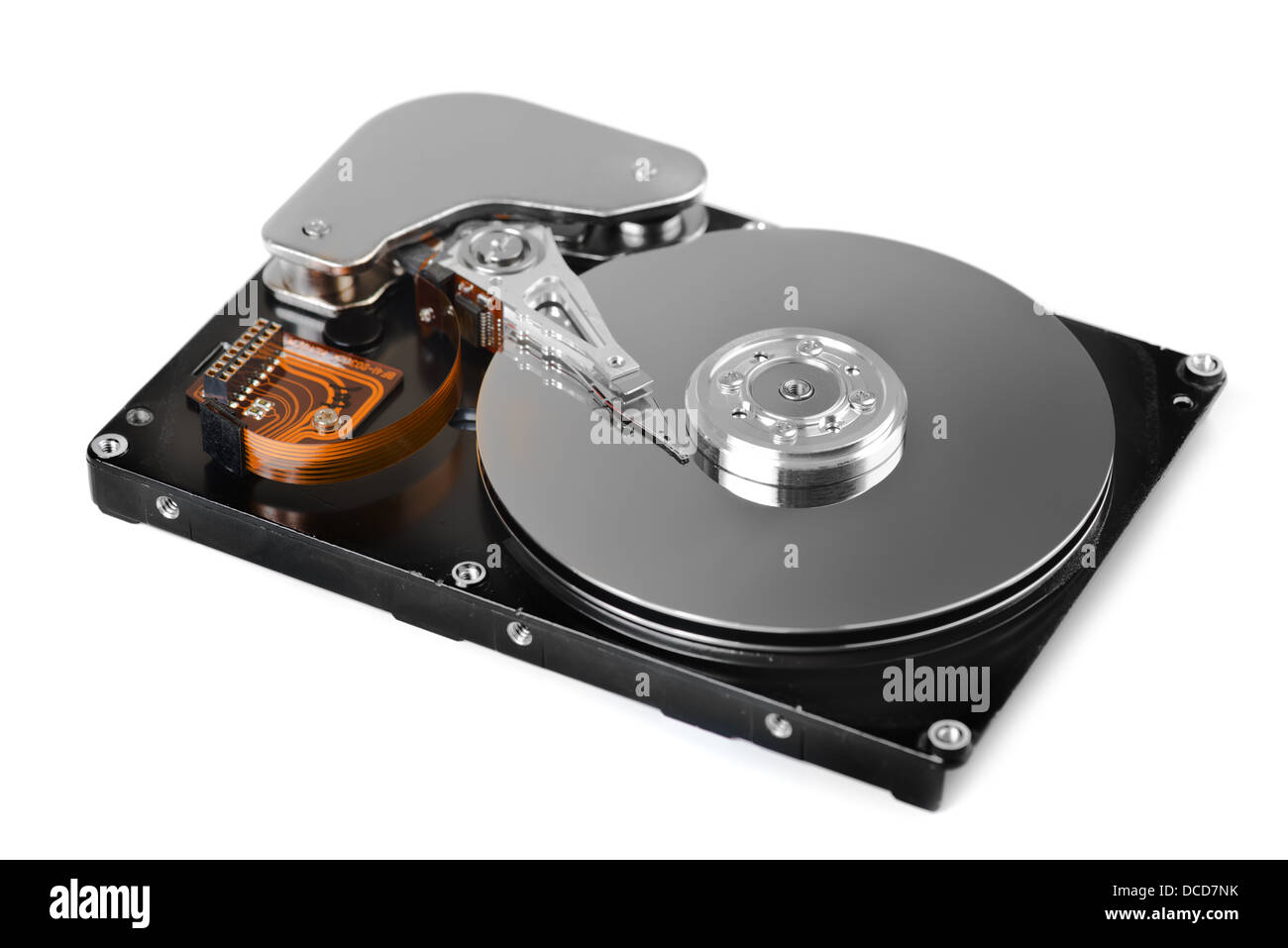 Hard disk drive inside - Stock Image