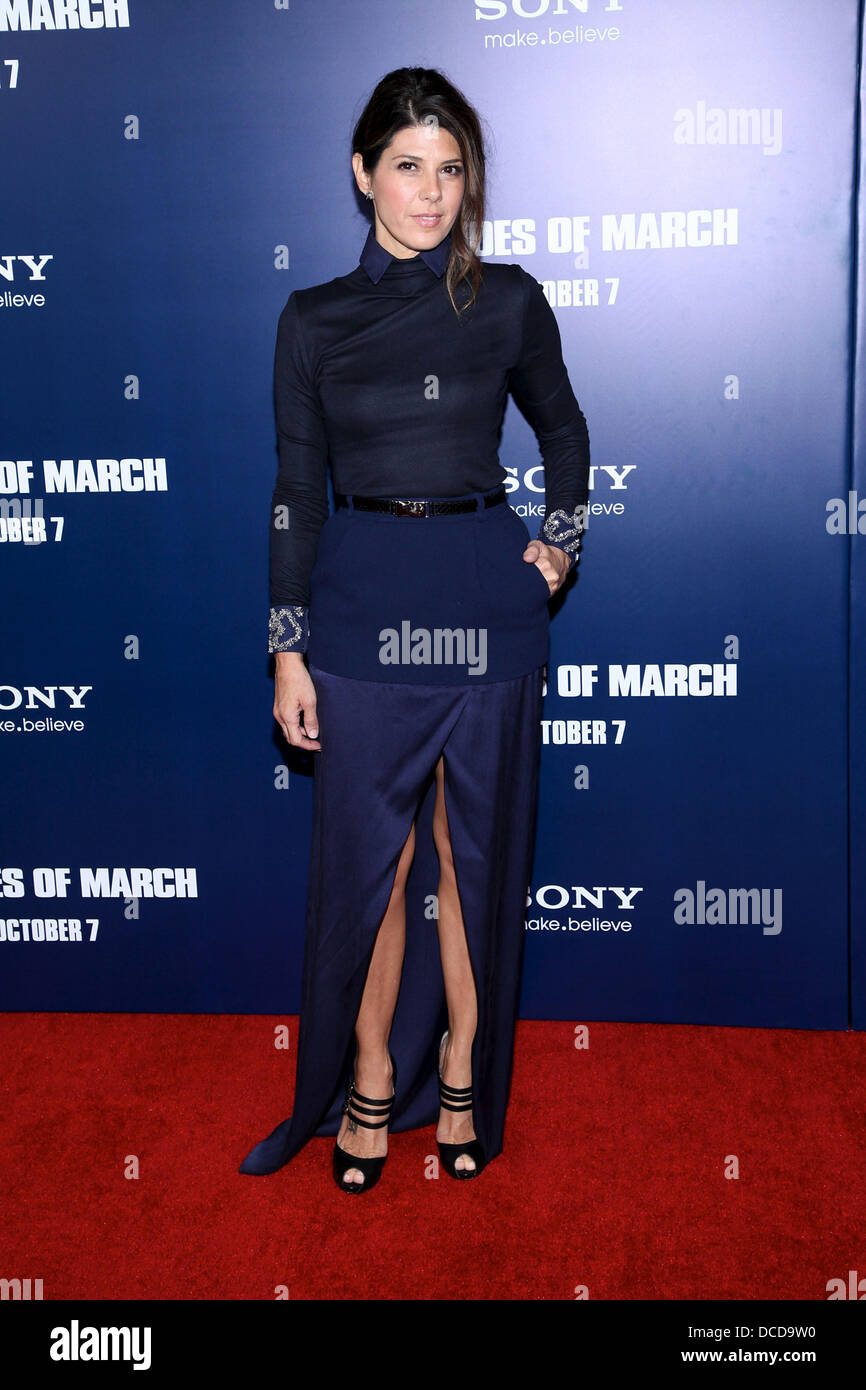 Marisa Tomei  New York premiere of 'The Ides of March' at the Ziegfeld Theater - Arrivals New York City, - Stock Image