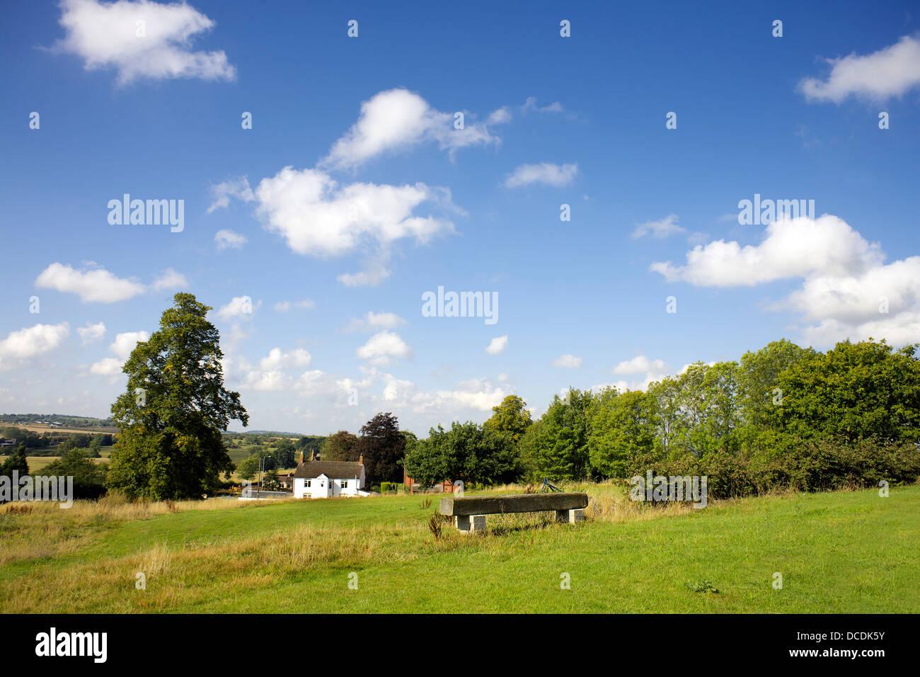 Braunston village Northamptonshire Northants England UK GB field charming pretty quaint rural England country life - Stock Image