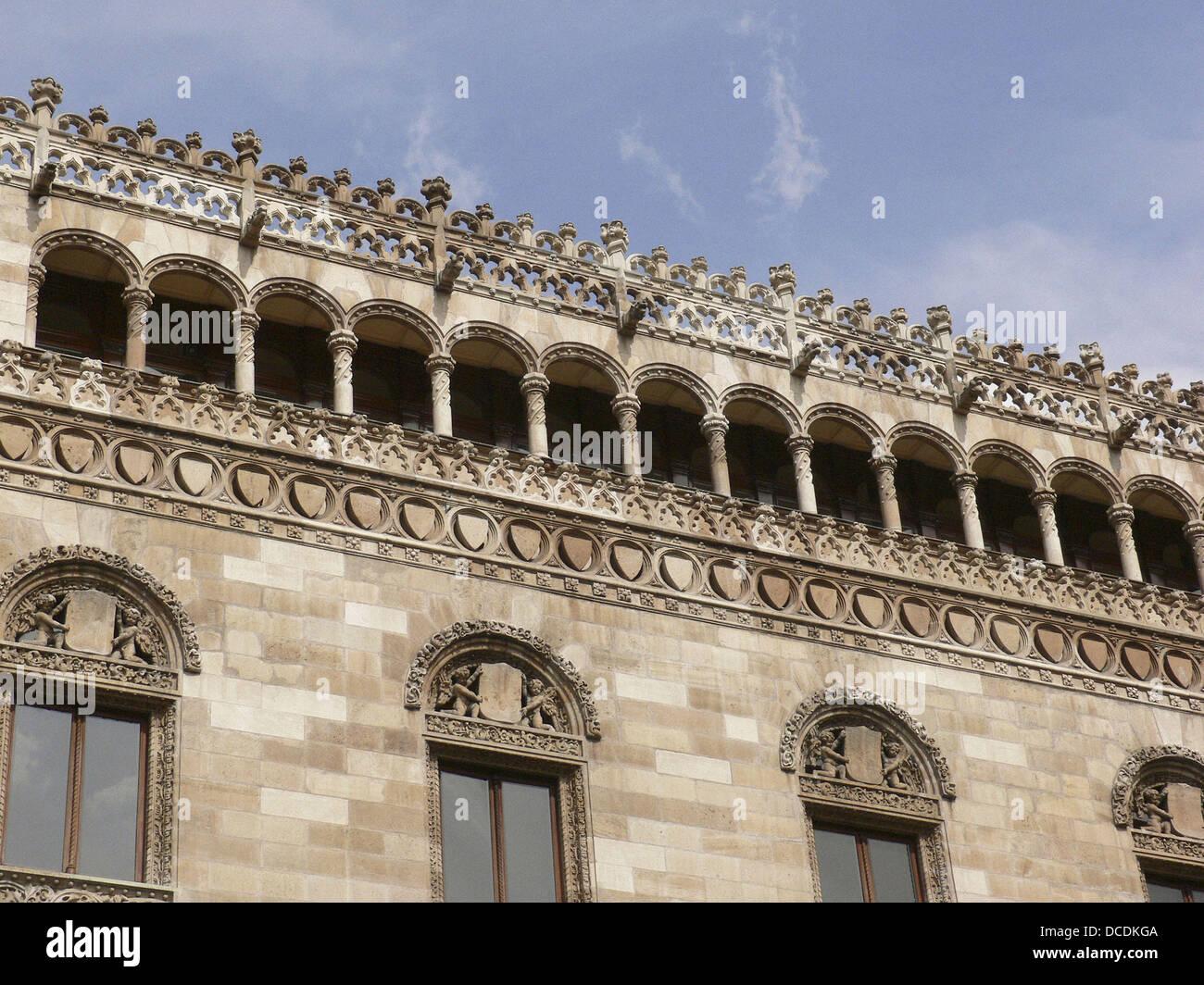 Palacio Postal. (Post Office Palace). Mexico DF. Mexico. - Stock Image