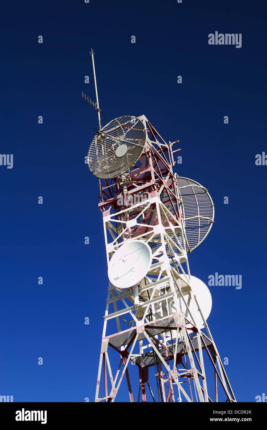 Television repeater tower - Stock Image