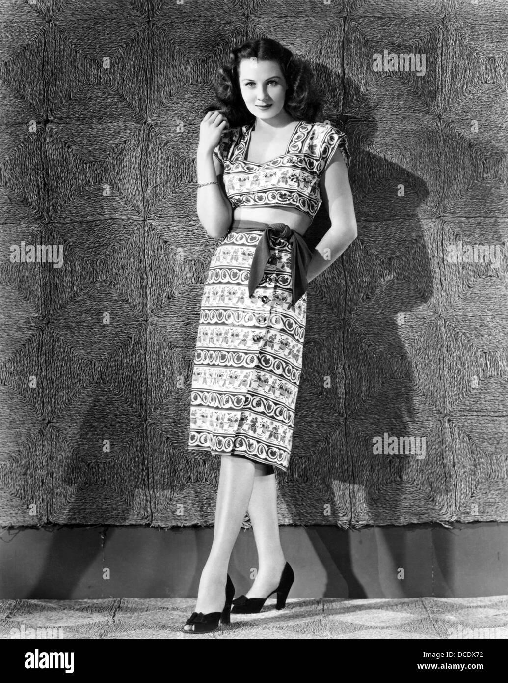 RHONDA FLEMING  US film actress about 1943 - Stock Image