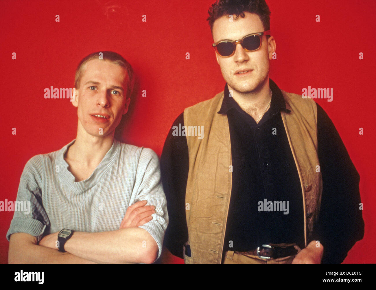 BLANCMANGE English pop duo about 1986 with Stephen Luscombe at left and Laurence Stevens - Stock Image