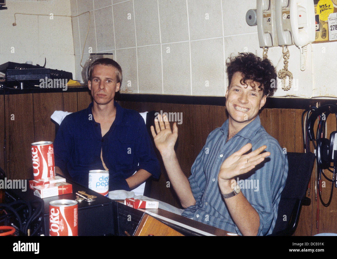 BLANCMANGE English pop duo about 1984 with Stephen Luscombe at left and Neil Arthur. Photo Hanne Jordan - Stock Image