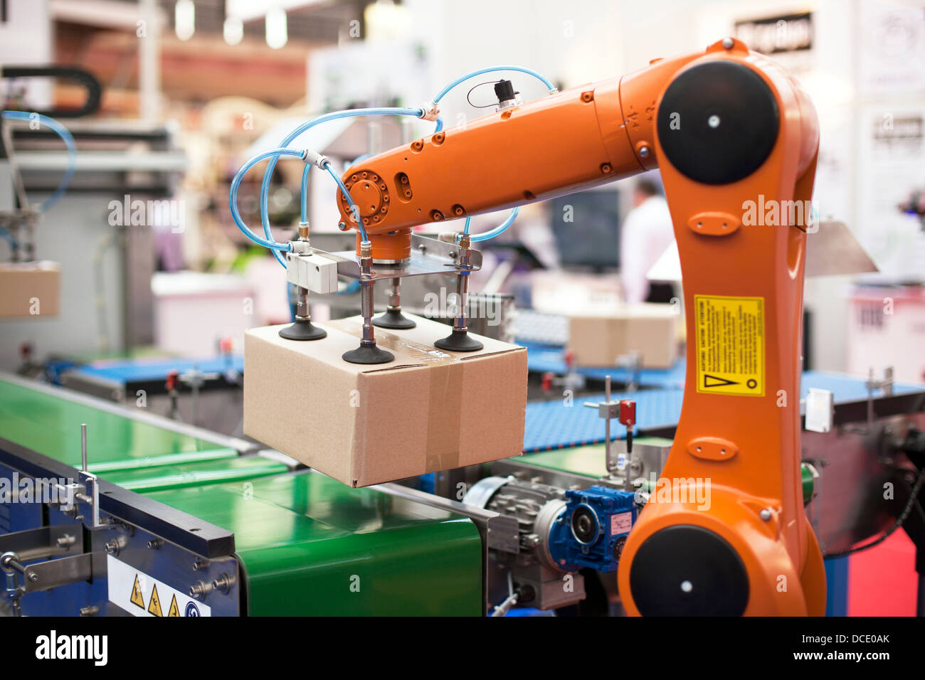 robotic arm for packing - Stock Image