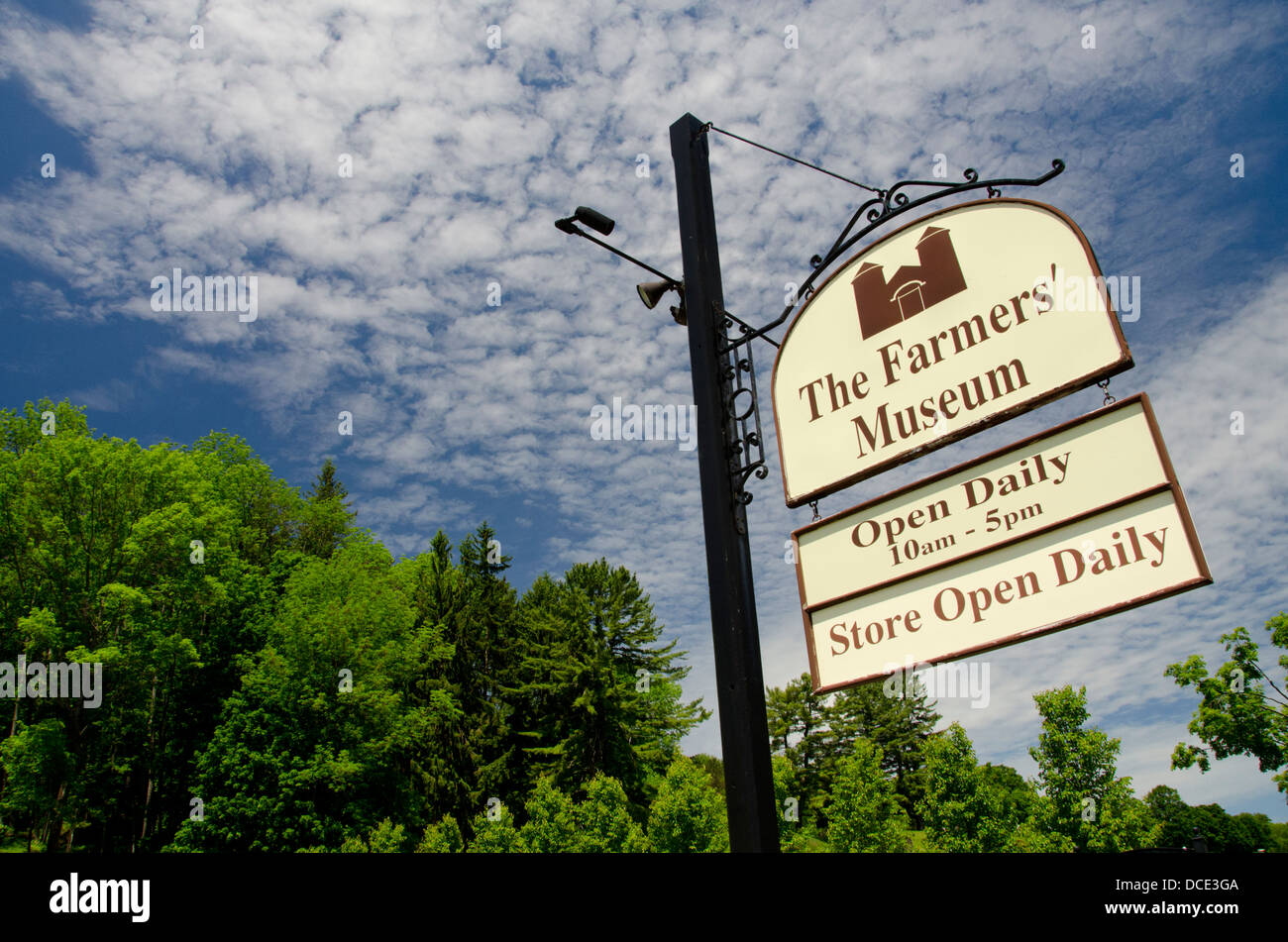 New York, Cooperstown, Farmers' Museum. Open-air museum depicting the rural history of New York State. Museum - Stock Image