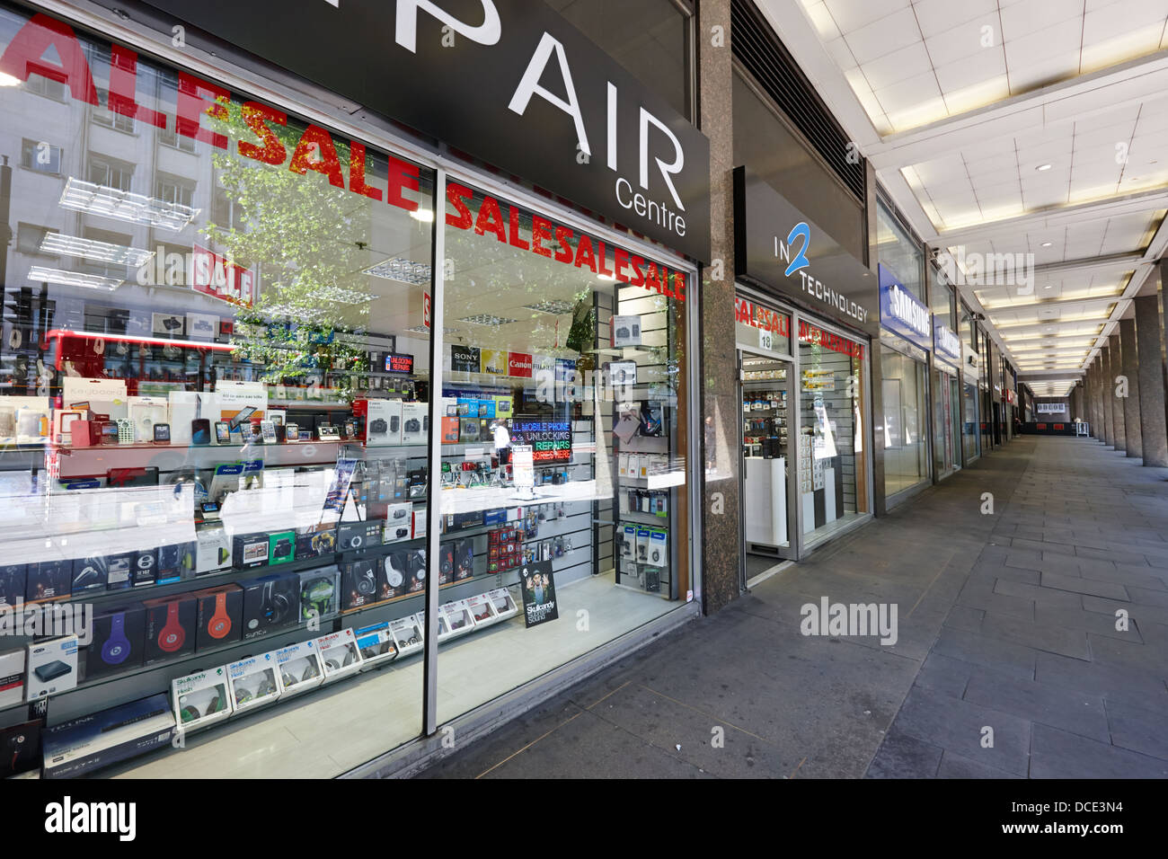 tottenham court road electronics goods shops London England UK - Stock Image