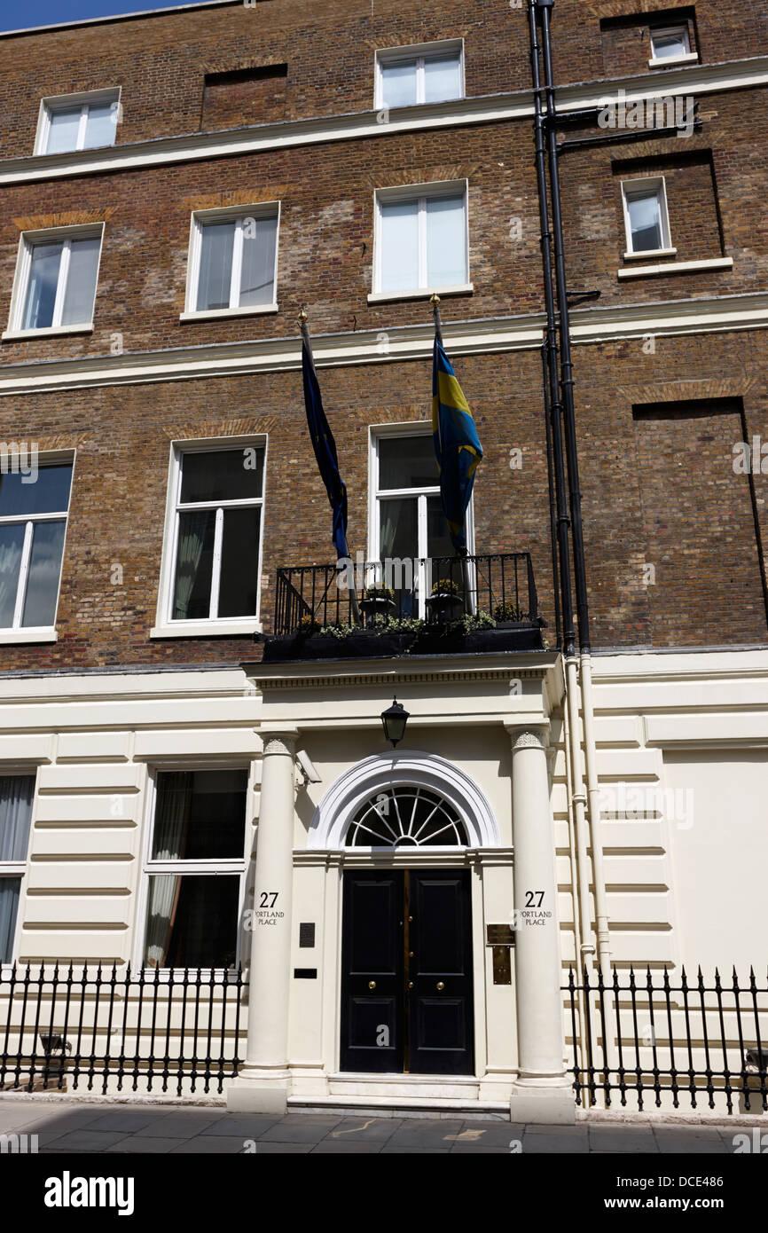 residence of the swedish ambassador London England UK - Stock Image