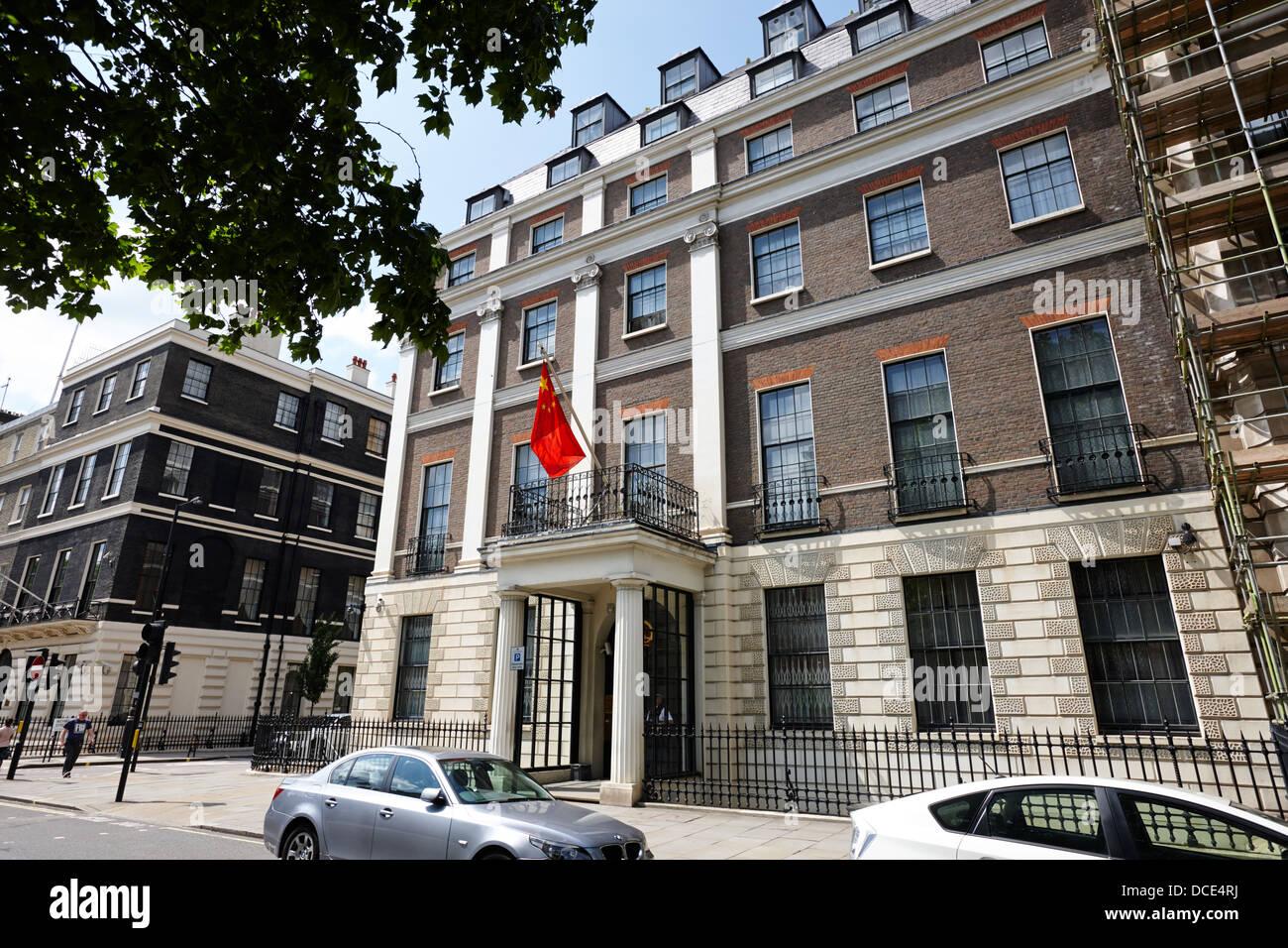 embassy of the peoples republic of china London England UK - Stock Image