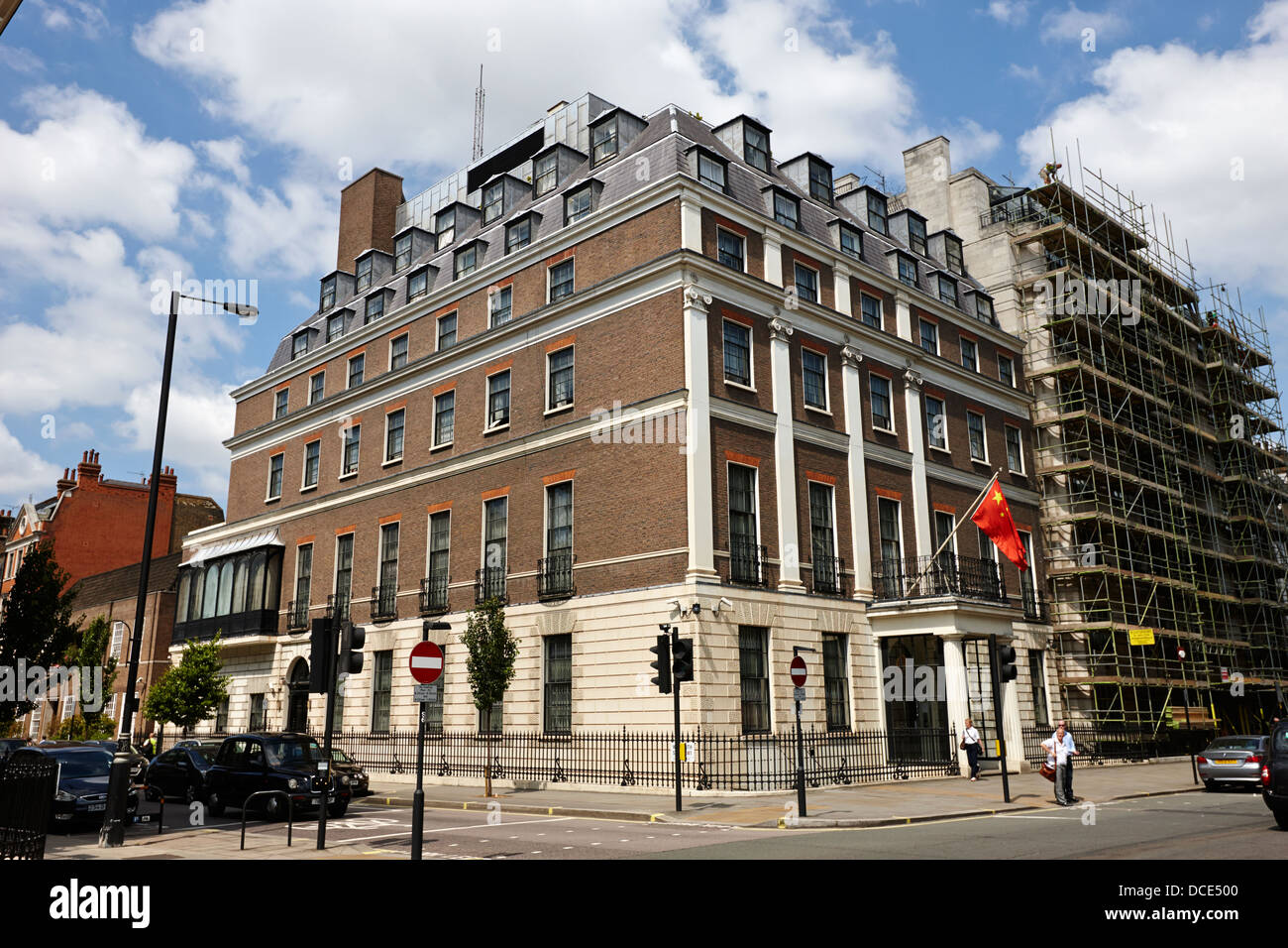 embassy of the peoples republic of china London England UK - Stock Image