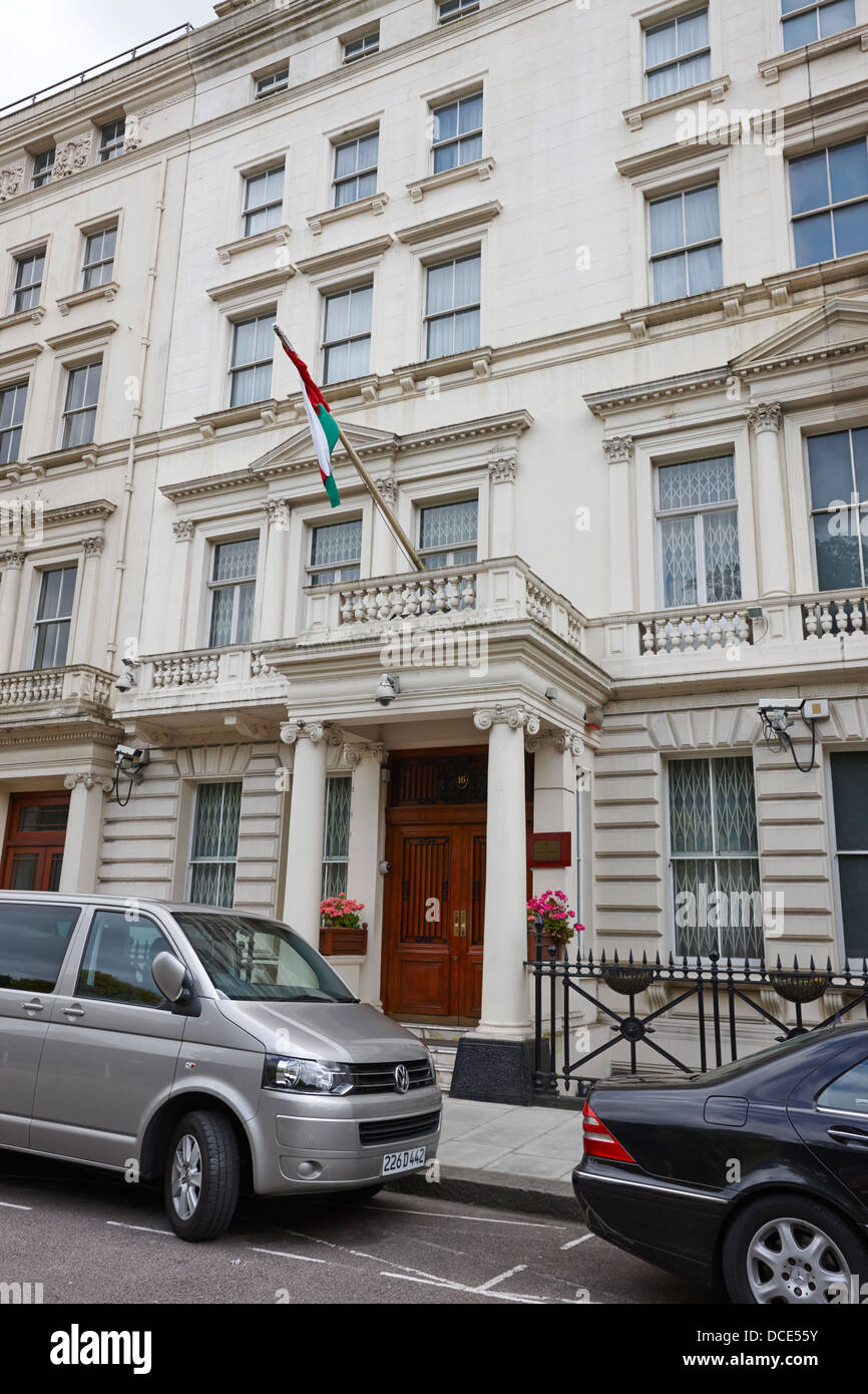 embassy of the islamic republic of iran 16 princes gate London England UK - Stock Image