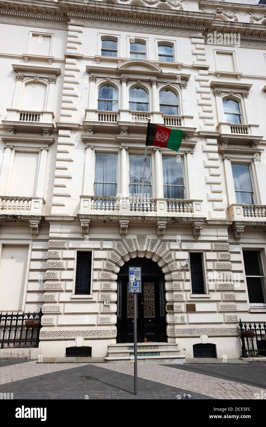 embassy of the islamic republic of afghanistan London England UK - Stock Image