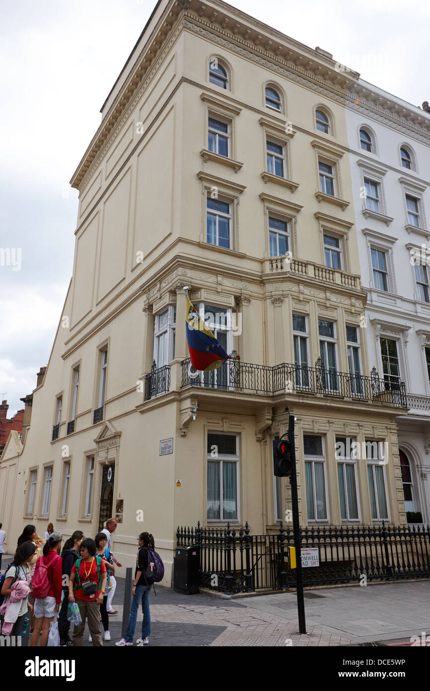 embassy of the bolivarian republic of venezuela London England UK - Stock Image