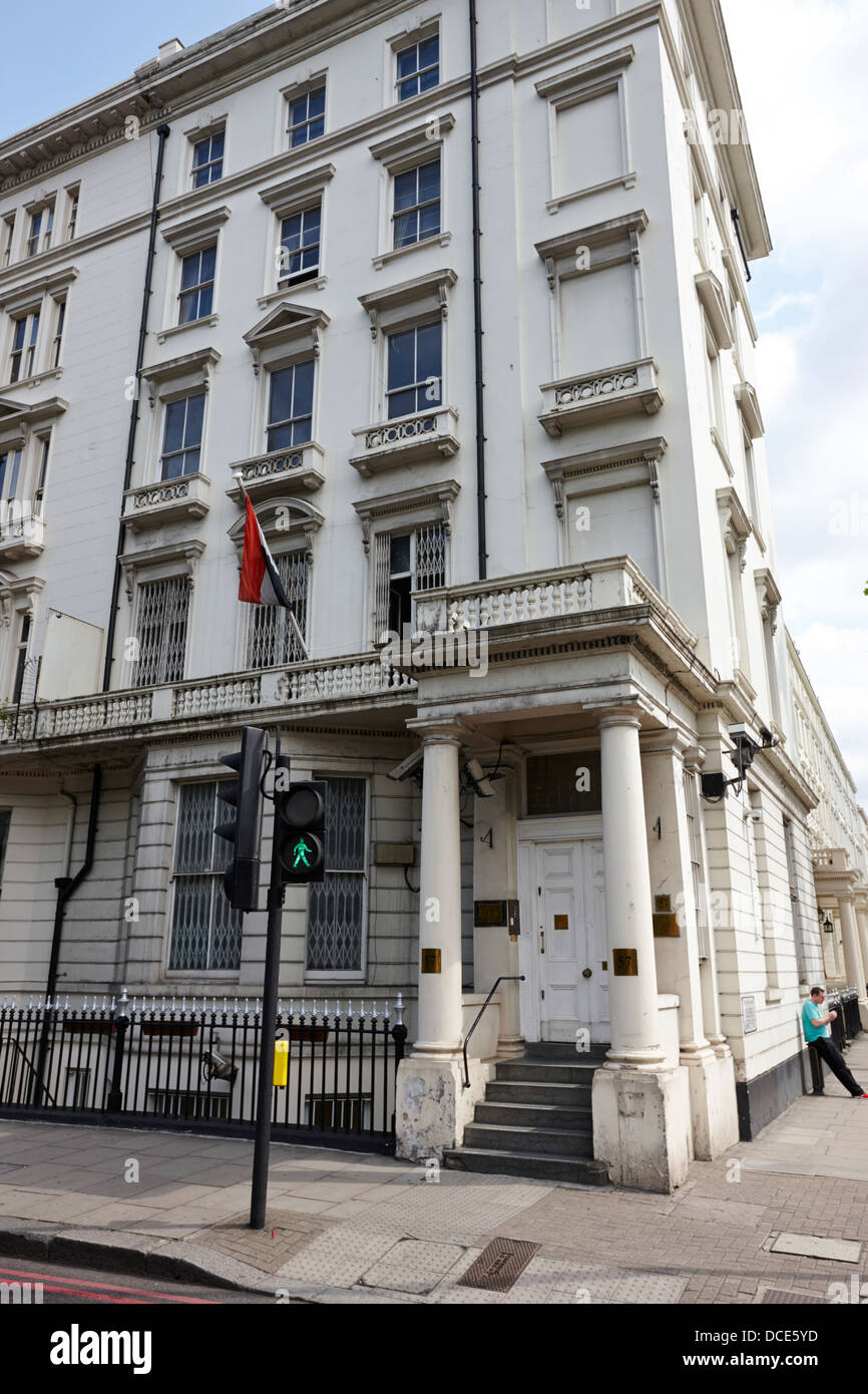 embassy of the republic of yemen London England UK - Stock Image