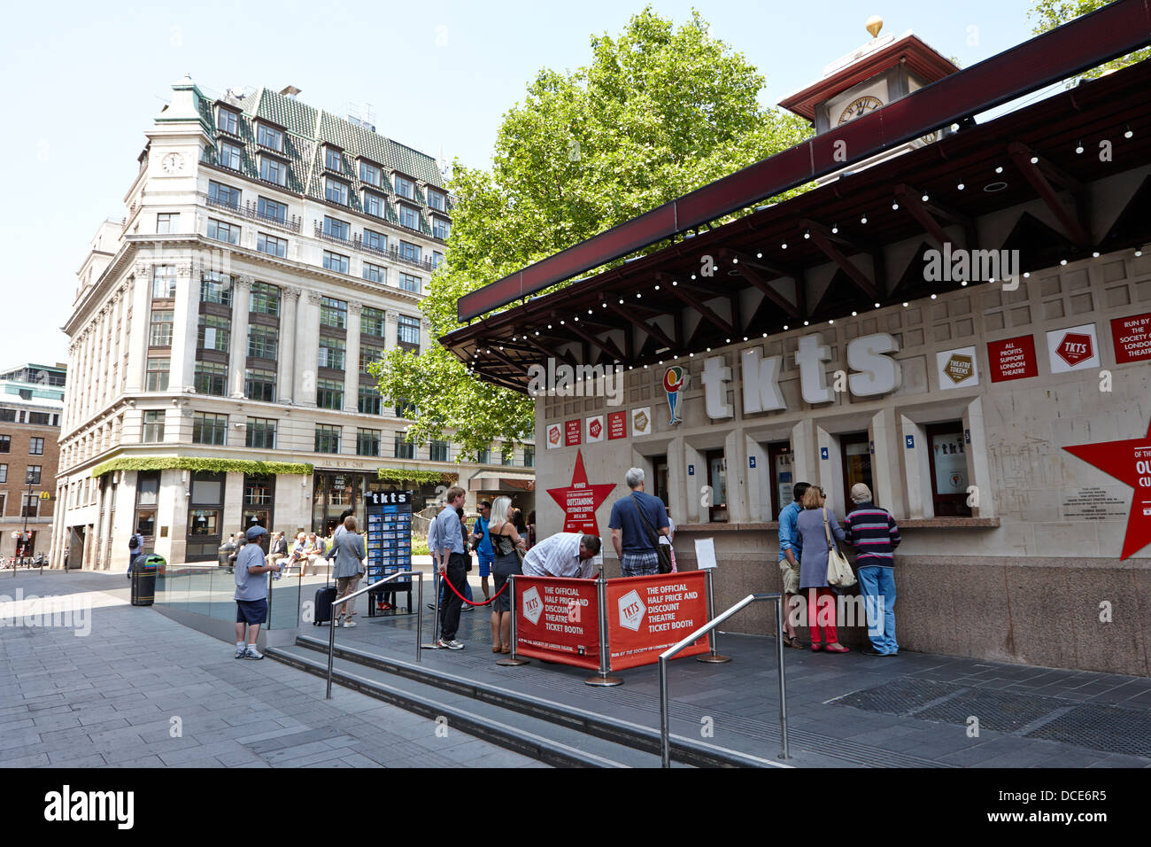 tkts tickets booth Leicester Square London England UK - Stock Image