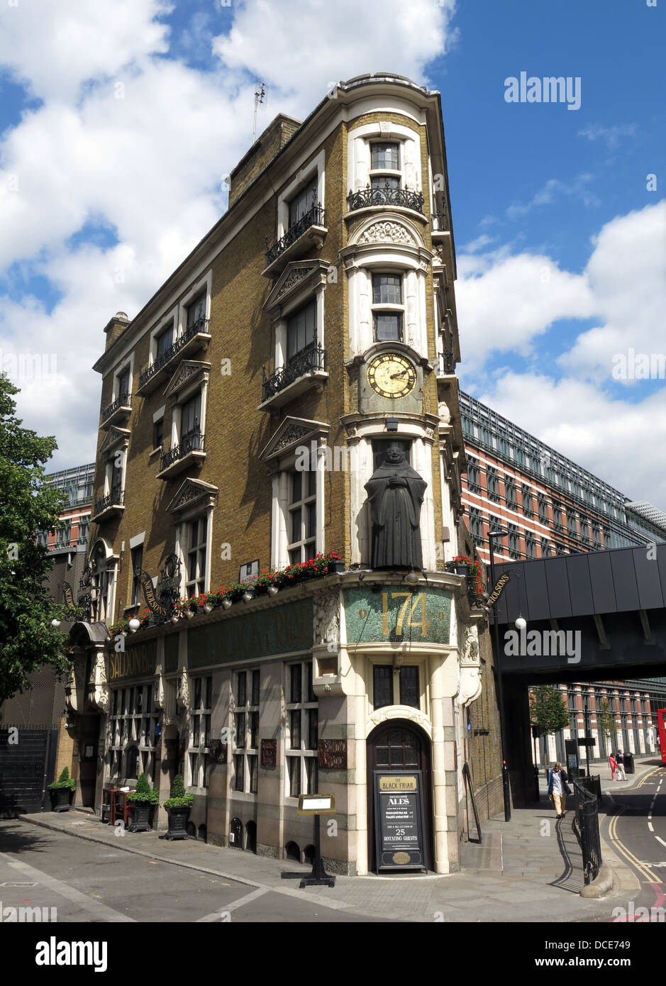 Black Friar pub, Blackfriars, London, England UK EC4V 4E - Stock Image