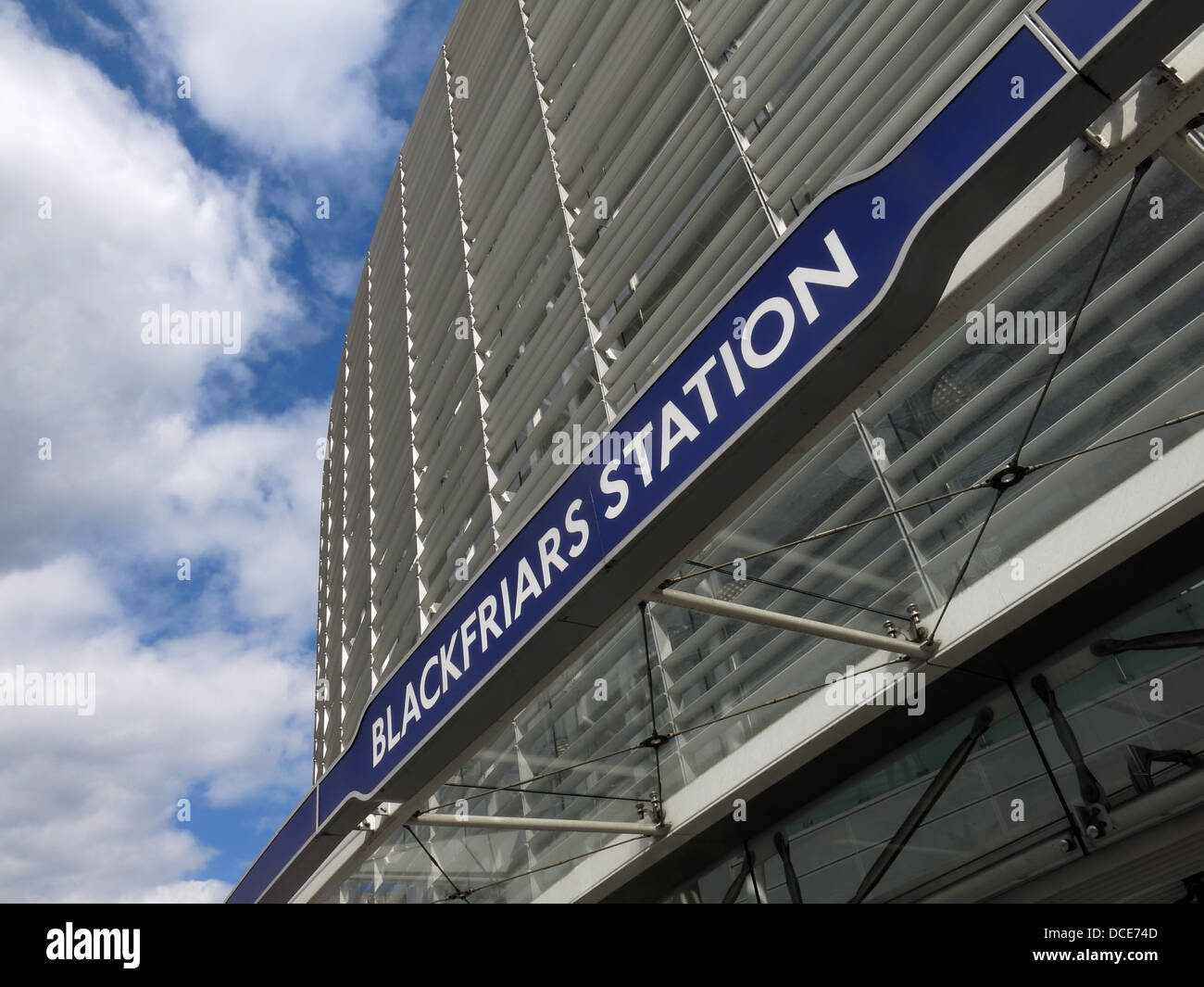 London Blackfriars modern new entrance after renovation 2013 for the Thameslink project - Stock Image