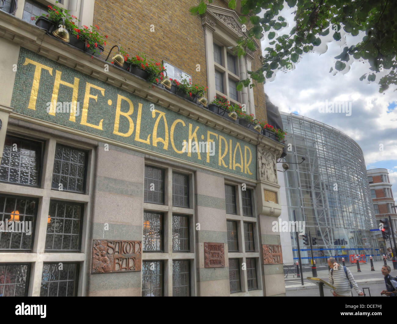 The Black Friar pub Blackfriars London England Stock Photo