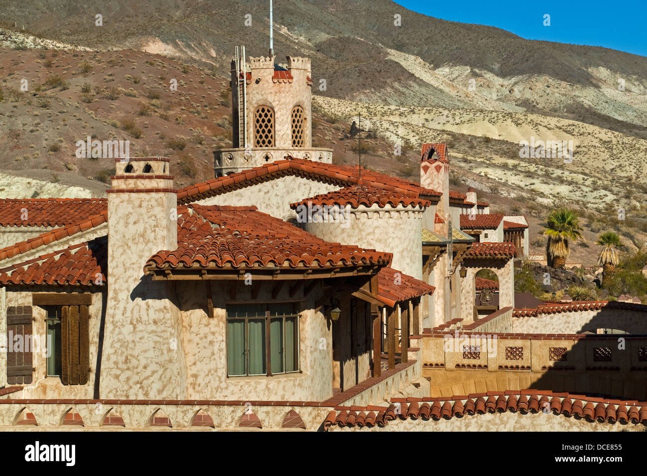 Scotty's Castle, Death Valley National Park, California - Stock Image