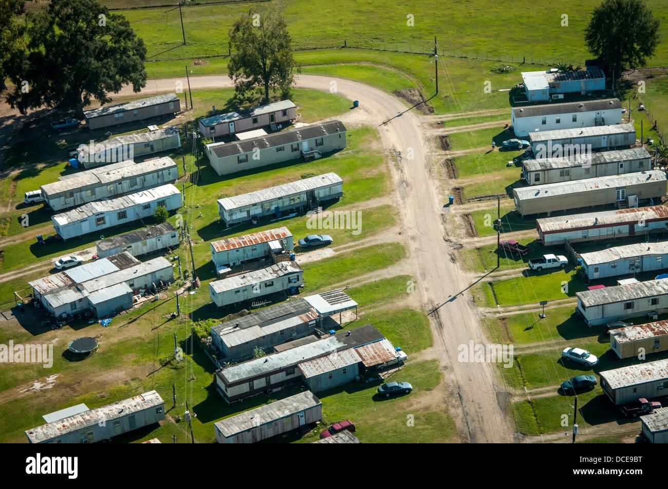 USA, Louisiana, Atchafalaya Basin area, St. Martin Parish, trailer park just outside of West Atchafalaya Basin Protection Stock Photo