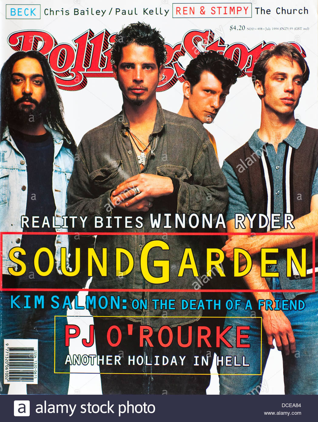 Rolling Stone Magazine (Australia) - July 1994, Soundgarden - Stock Image