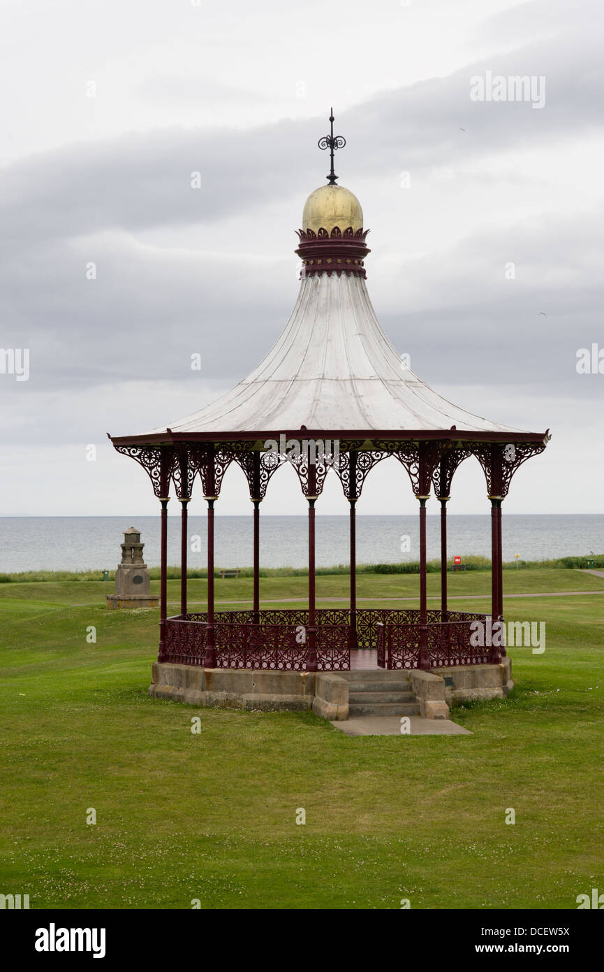 The Wallace Bandstand overlooking the Moray Firth at Nairn - Stock Image
