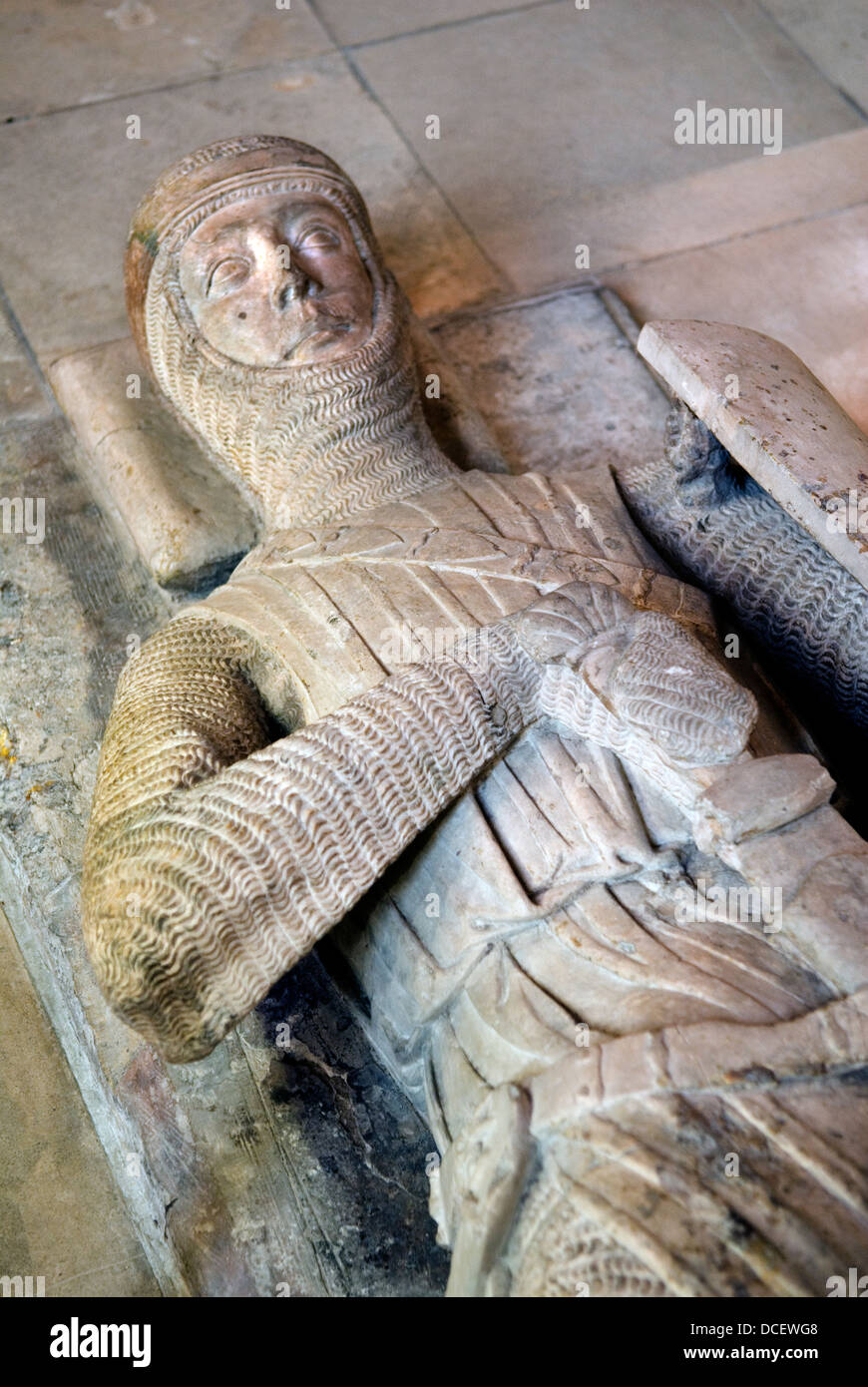 Knights effigy tomb Temple Church, Inns of Court London UK HOMER SYKES - Stock Image