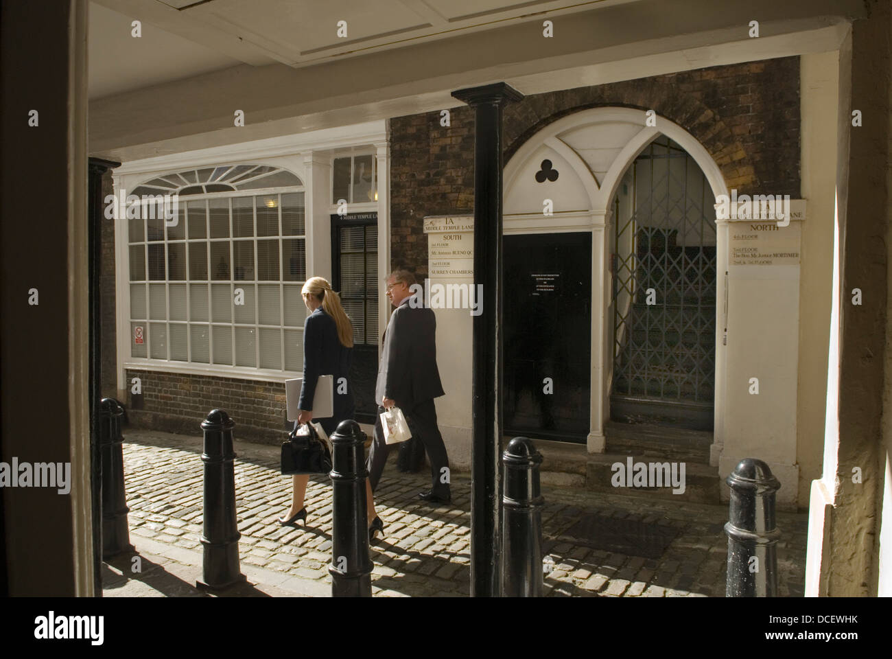 Middle Temple Lane. Middle Temple. Inns of Court London UK HOMER SYKES - Stock Image