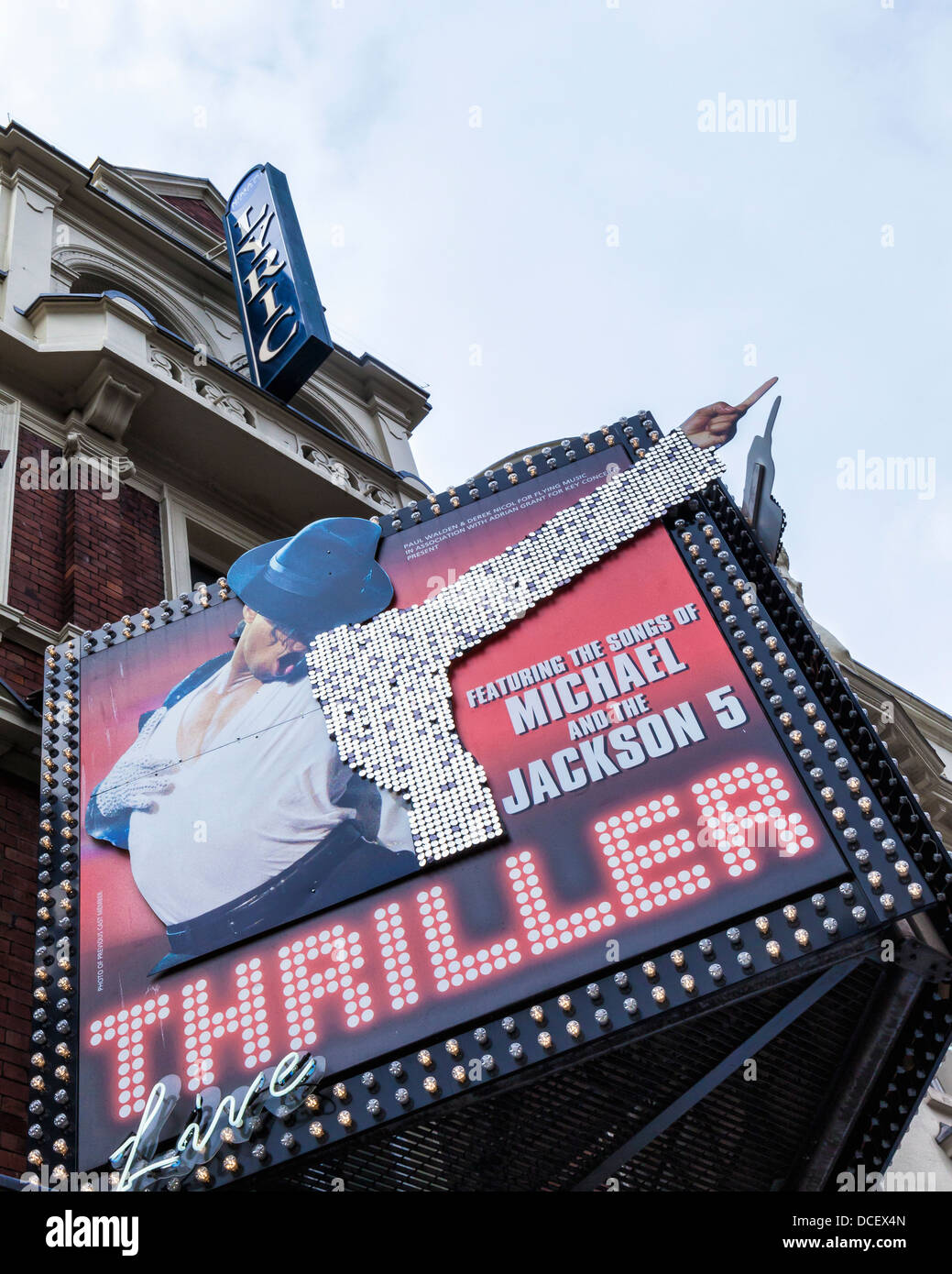 Lyric Theatre showing the  live Michael Jackson musical 'Thriller' - Shaftesbury Avenue, West End, London, - Stock Image