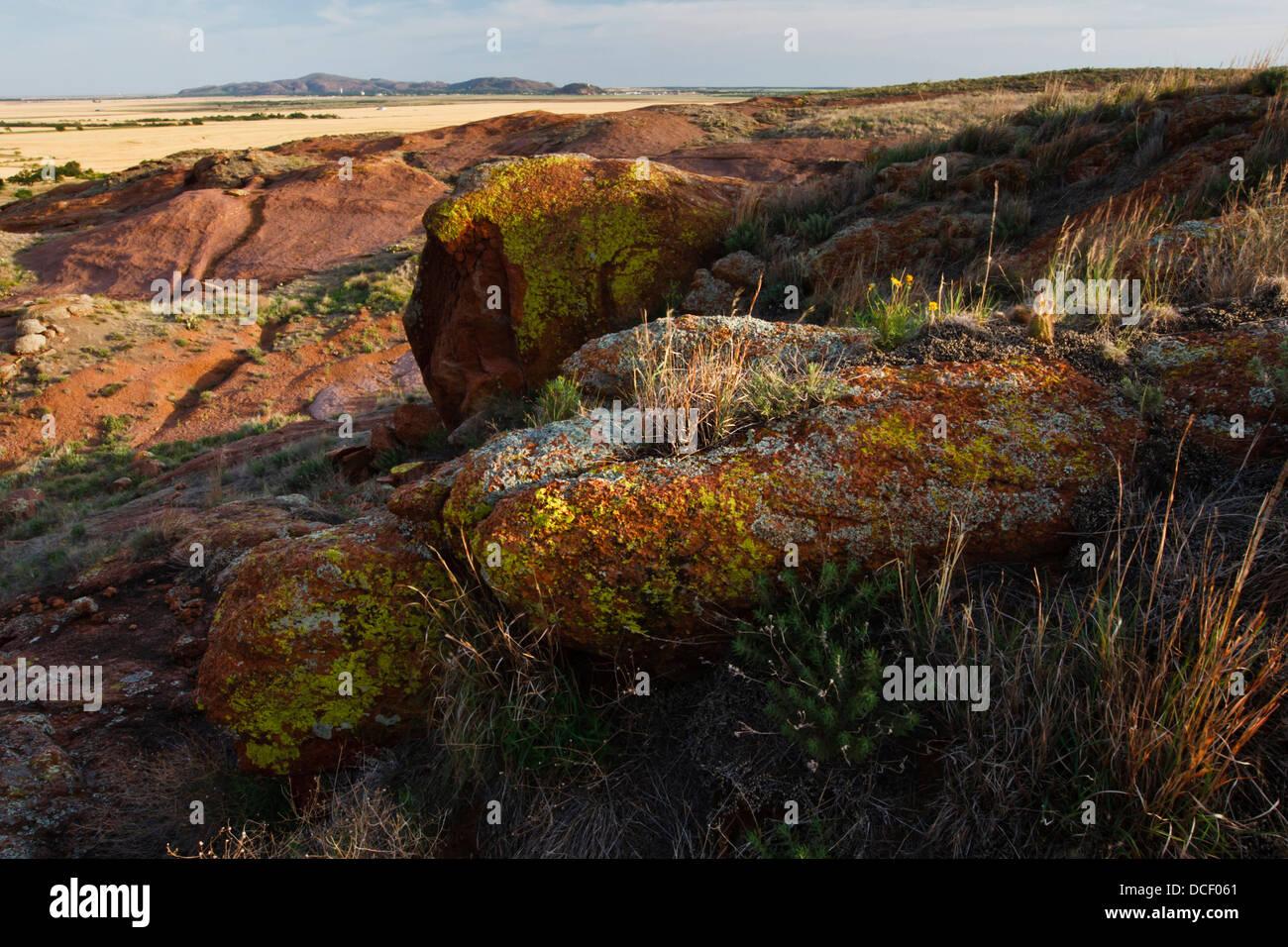 Wichita Mountains in southwest Oklahoma, USA. - Stock Image