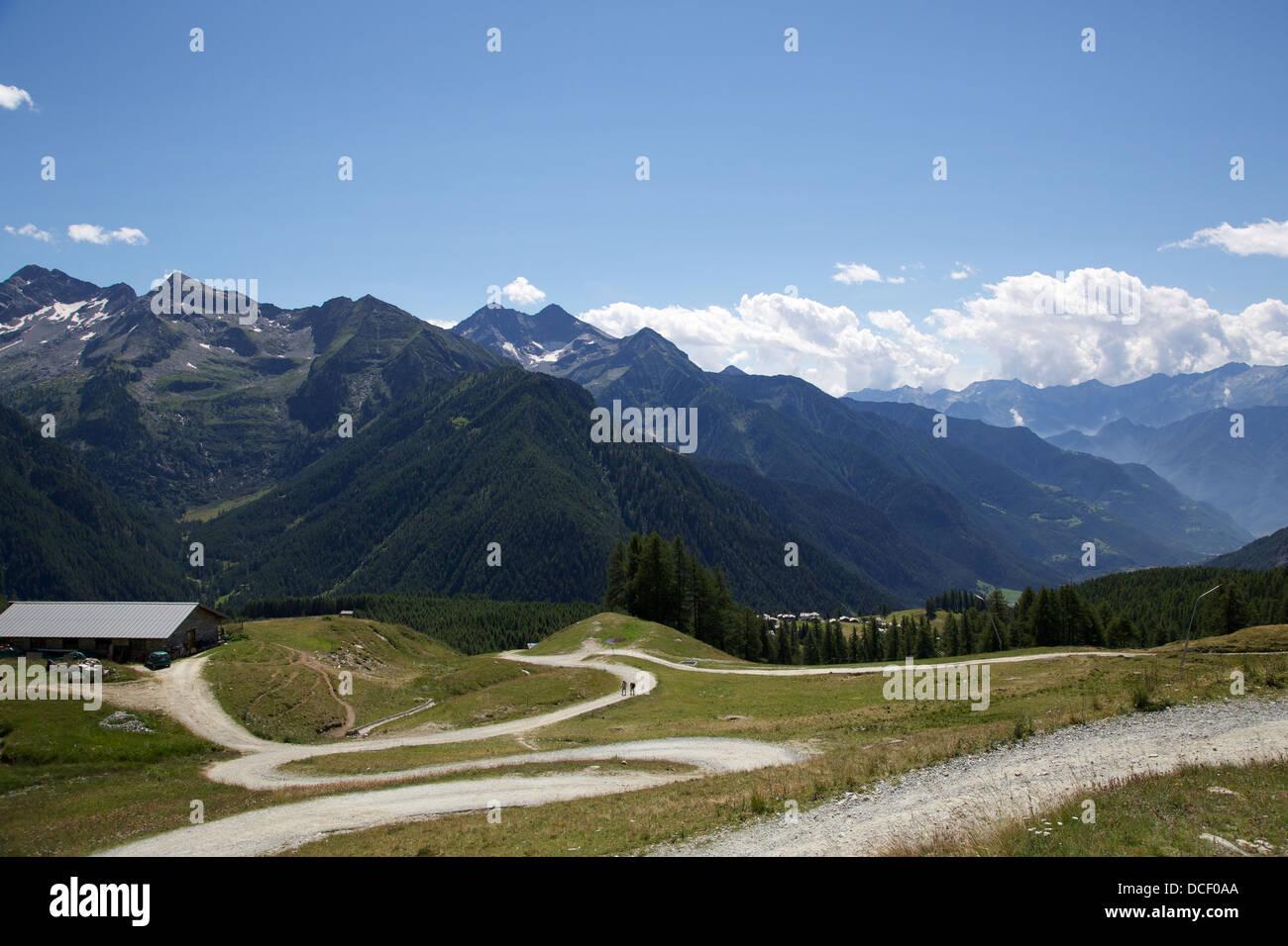 Estoul - Aosta Valley Stock Photo