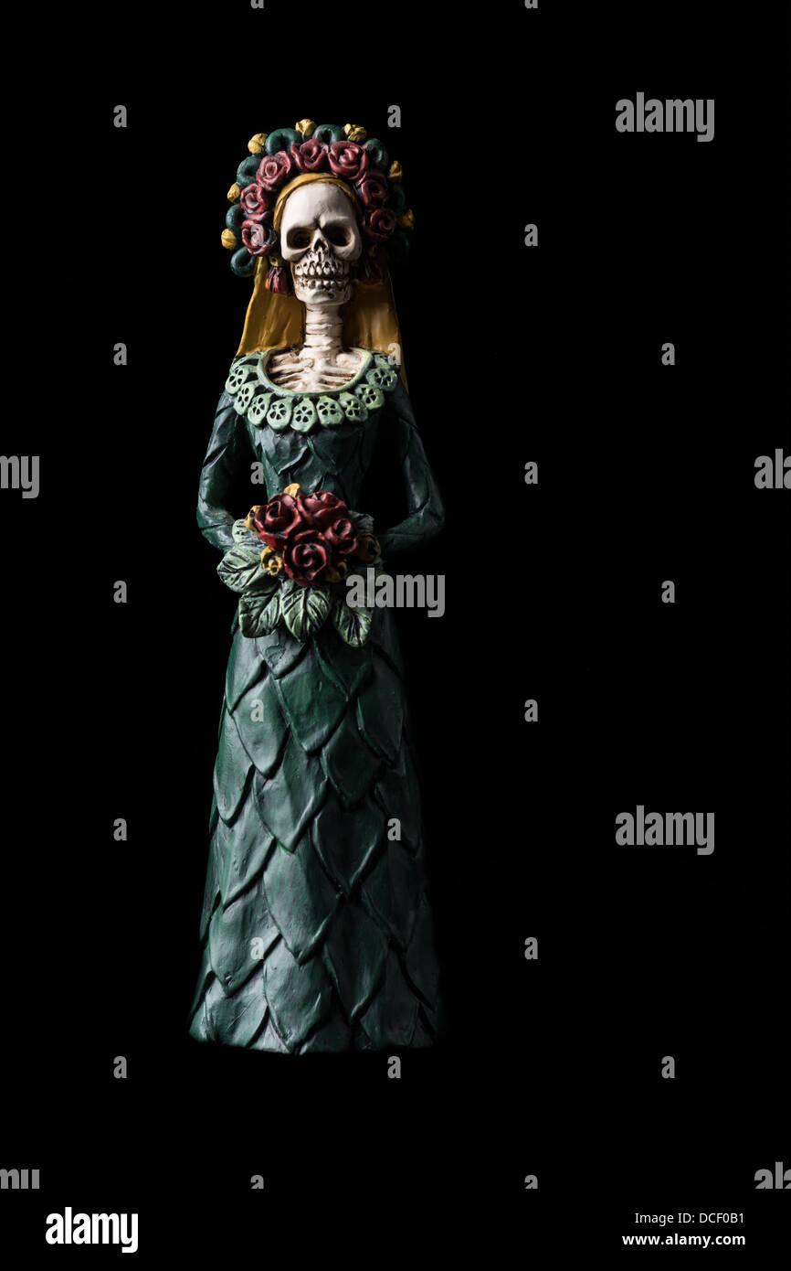 "Catrina Calavera known as the ""Elegant Skull"" Dia de los Muertos (Day of the Dead) celebration Stock Photo"