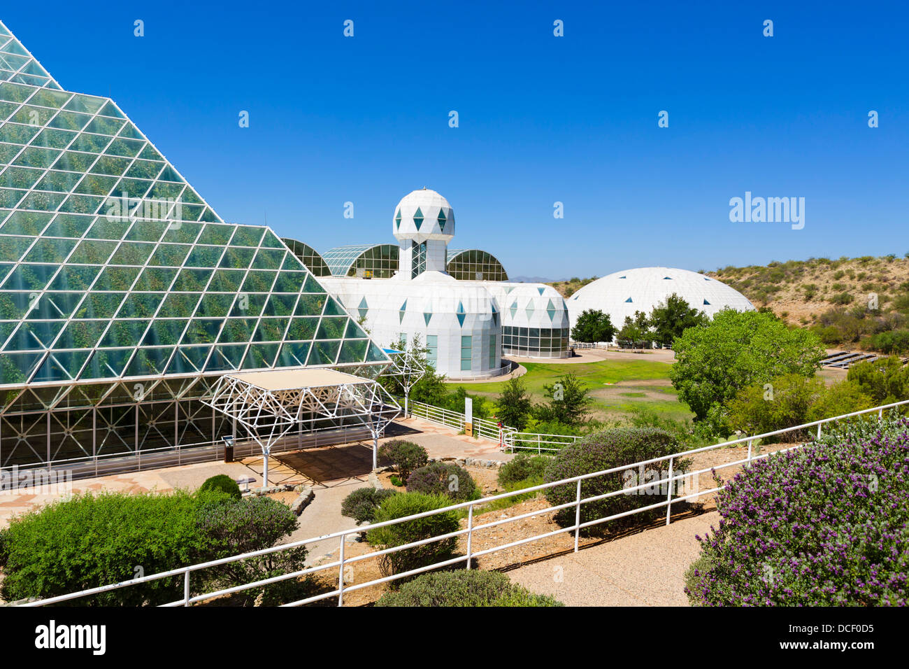 Biosphere 2 Earth Systems Science Research Facility at the University of Arizona, Oracle, near Tucson, Arizona, - Stock Image