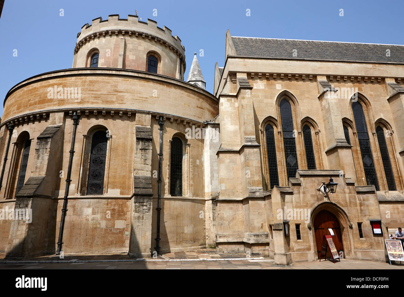 temple church 12th century church home to the knights templar London England UK - Stock Image