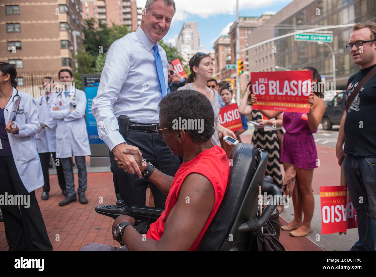 NYC Public Advocate and mayoral candidate Bill de Blasio - Stock Image