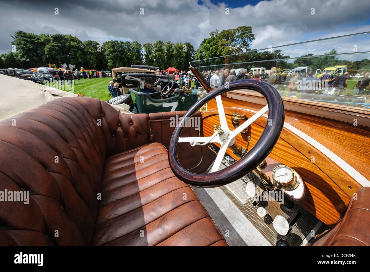 Vintage Car Rally in Biggar, South Lanarkshire, Scotland - Stock Image