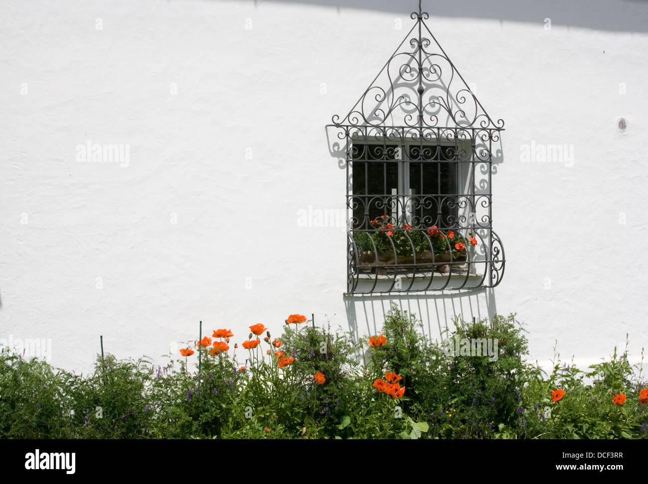 Fenster/window in Sils; - Stock Image