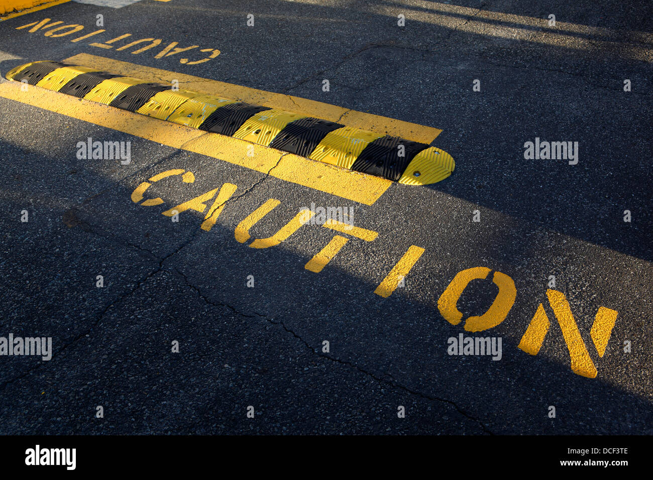 caution - Stock Image