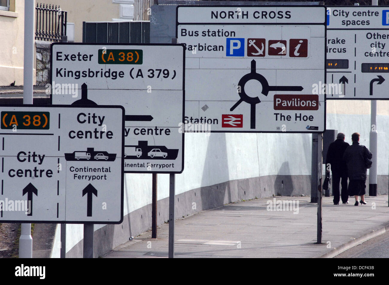 Road sign in Plymouth - Stock Image