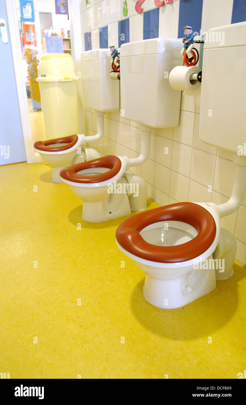 Toilets Seats In A Day Care Center Stock Photo Alamy - Bathroom in a day